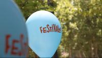 Un globus amb la imatge del Festivalot aquest diumenge