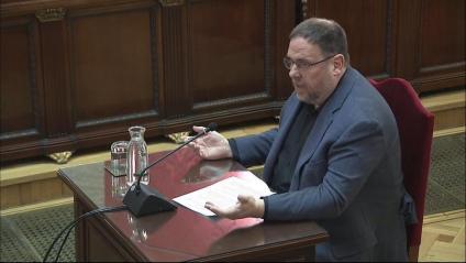 Oriol Junqueras l'últim dia de judici, la setmana passada al Tribunal Suprem