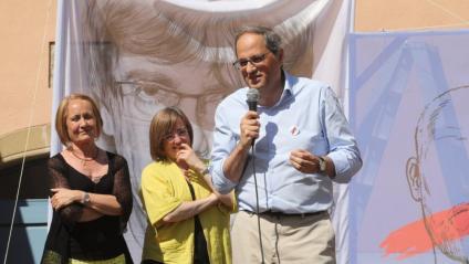 El president de la Generalitat, Quim Torra, durant el seu discurs a Amer