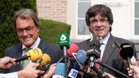 Artur Mas i Carles Puigdemont, el 4 de setembre passat, a Waterloo