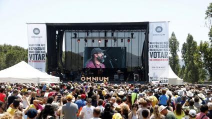 Els manresans Gossos, durant el concert que van oferir ahir en la segona edició del festival Cultura Contra la Repressió