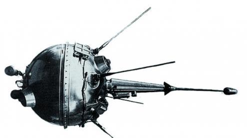 La sonda Luna 1, que va arribar prop de la Lluna el 1958 i que només transmetia senyals de ràdio.