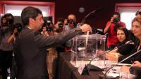 Joan Canadell durant la votació