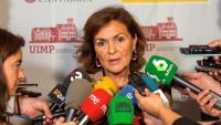 La vicepresidenta en funcions, Carmen Calvo, a Santander