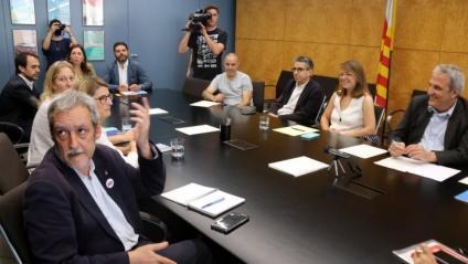 La primera reunió dels grups municipals de l'Ajuntament de Barcelona
