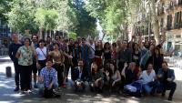 Foto de família, ahir al matí, al centre de Barcelona, per presentar la nova edició de Fira Tàrrega , que estrena direcció artística