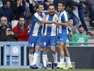 Sergio celebra un gol aquesta darrera temporada amb l'Espanyol