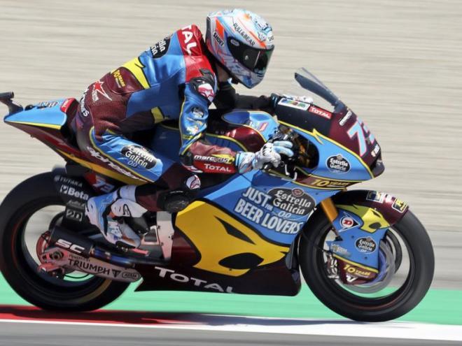 Àlex Márquez, durant la cursa de Moto 2