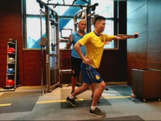 Wu Lei està seguint un tractament específic per millorar la seva mobilitat a l'Espanyol.