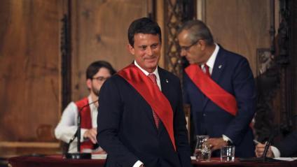 Valls i Corbacho , en segon terme, durant el ple de dissabte