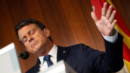 Manuel Valls ahir a l'ajuntament de Barcelona