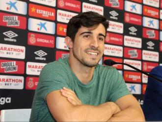 Jairo Izquierdo, el mes d'agost passat, presentat a Montilivi com a nou jugador del Girona abans de marxar cedit al Cadis