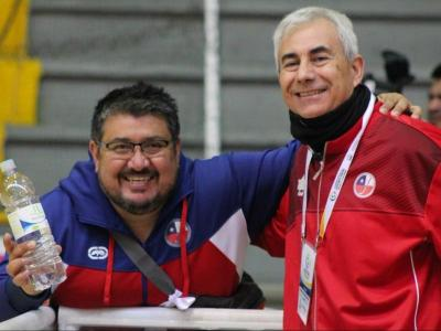 Barberà, a la dreta, amb Armando Quintanilla, el president de la federació xilena