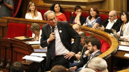 El president de la Generalitat, Quim Torra, durant la sessió de control al Parlament