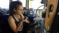 L'alemanya Carola Rackete, capitana del vaixell 'Sea Watch 3', en una foto cedida per l'ONG del mateix nom