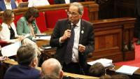 El president Quim Torra defensant el projecte de Hard Rock ahir al Parlament