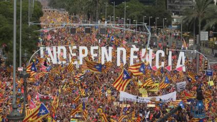 Un moment de la manifestació de la Diada de l'any passat