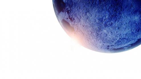 Una vista de la superfície de la Lluna.