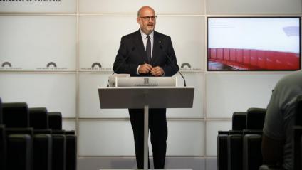 """Eduard Pujol reclama """"respecte"""" cap al President i nega una """"tempesta política"""" amb ERC"""