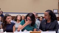 Congressistes demòcrates, en una compareixença a la cambra baixa