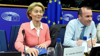 Von der Leyen, ahir, durant una reunió del PPE al Parlament d'Estrasburg
