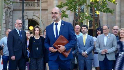 El conseller d'Interior, Miquel Buch, a les portes del TSJC