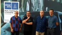 Els directors del festival Sónar , Enric Palau, Sergi Caballero i Ricard Robles, i el director executiu d'Advanced Music, Ventura Barba