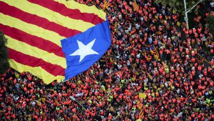 Imatge aèria de la manifestació de la Diada de l'any passat