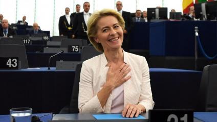Von der Leyen, després de conèixer la seva elecció com a presidenta de la Comissió Europea