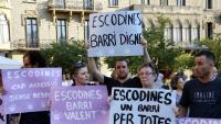 La manifestació de suport a la noia va sortir de la plaça Sant Domènec