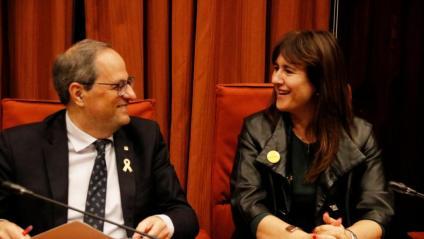 Torra i Borràs aposten per votar no a la investidura de Pedro Sánchez