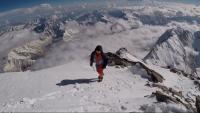 Mingote, a deu metres del cim del Nanga Parbat