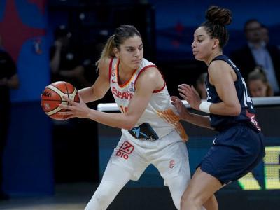 Marta Xargay en la final del darrer europeu, que va guanyar (86-66) i en la qual va anotar 23 punts amb 5/8 triples
