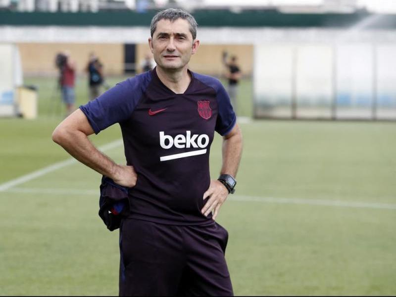 Valverde somriu en la sessió d'avui