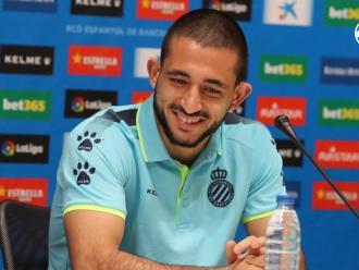 Matías Vargas, el 'monito' ha estat presentat aquesta tarda com a nou jugador de l'Espanyol per les properes cinc temporades.