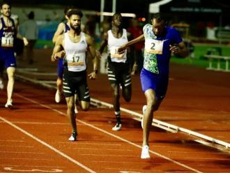 Souleiman, en l'arribada dels 800 m, una de les curses de més nivell del míting d'ahir a Barcelona