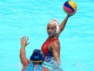 Paula Crespí, en la imatge, contra el Kazakhstan, va fer ahir 3 gols contra Cuba