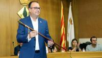 L'alcalde d'Alpicat, Joan Giralt, de JxCat, el dia del ple d'investidura