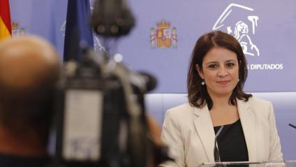 La portaveu del PSOE al Congrés dels Diputats, Adriana Lastra