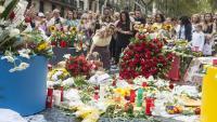 Homenatge a les víctimes de l'atemptat del 17-A a la Rambla, un any després de l'atac