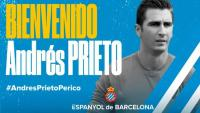 Andrés Prieto s'ha convertit en el quart fitxatge de l'Espanyol on torna després de dos anys.