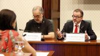 El conseller d'Acció Exterior, Alfred Bosch, a la comissió al Parlament aquest 19 de juliol
