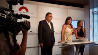 Josep Lluís Cleries, Laura Borràs i Míriam Nogueras, al Parlament