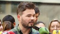 El diputat d'ERC al Congrés Gabriel Rufián atenent la premsa aquest 19 de juliol