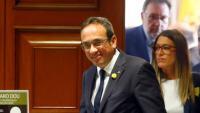 Josep Rull el dia que va anar al Congrés dels Diputats a recollir les credencials de diputat el 20 de maig