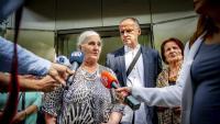 Mares de Srebrenica, ahir, després de la sentència del Suprem holandès