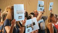 Protestes ahir en el ple pel pacte al Vallès Oriental