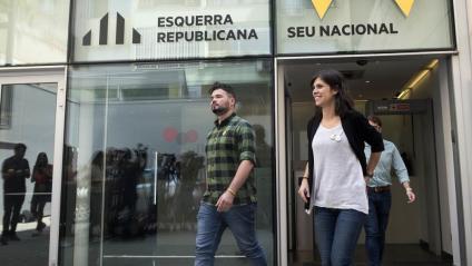 Rufián i la portaveu Vilalta