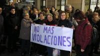 Pancarta  de rebuig en una concentració per l'agressió sexual de Sabadell al febrer