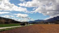 Una part important del municipi de la Vall d'en Bas és espai agrari, un dels sectors més determinants del seu ADN